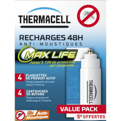 Recharge 48H MAX Life anti moustiques pour Lanterne ThermaCELL