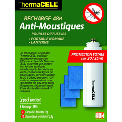Recharge 120H anti moustiques pour Lanterne ThermaCELL
